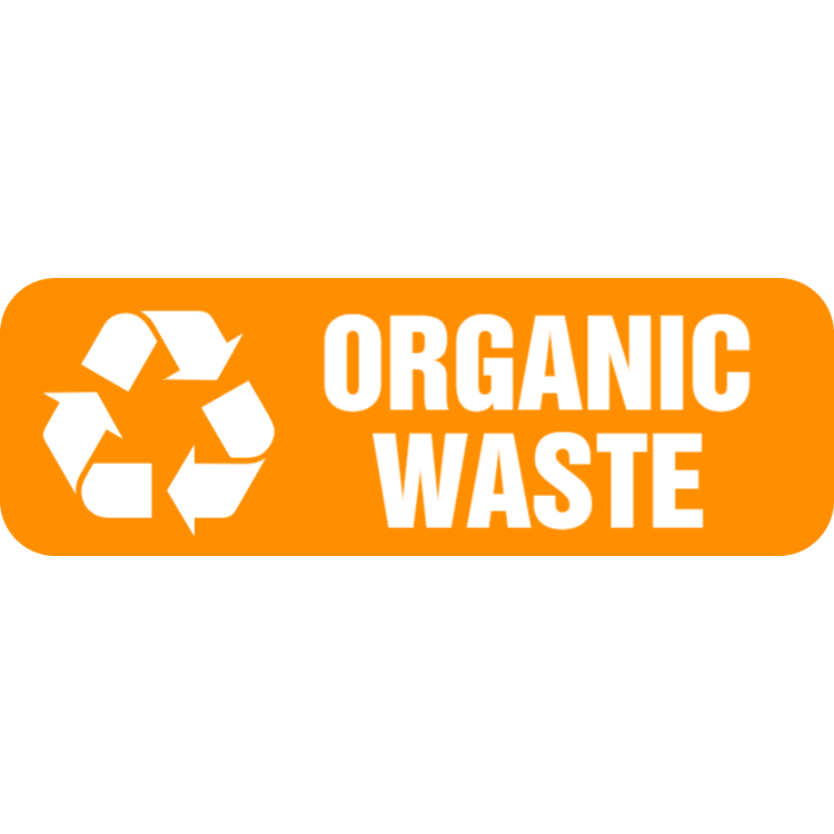 Orange organic waste landscape sticker
