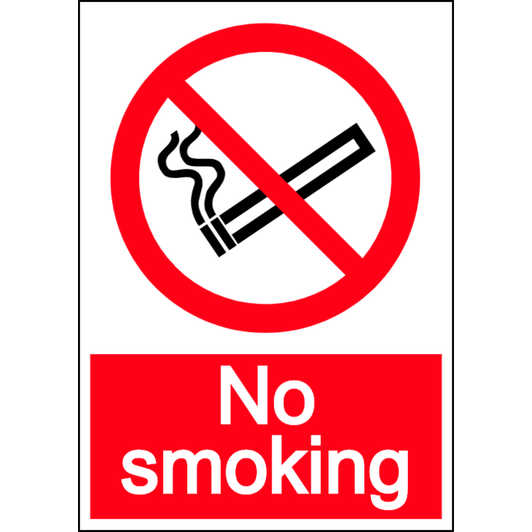 No smoking - portrait sign