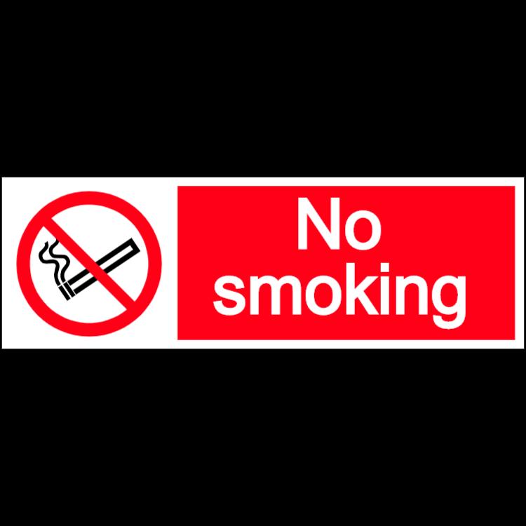 No smoking- landscape sign