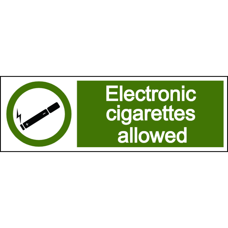 Electronic cigarettes allowed - landscape sign
