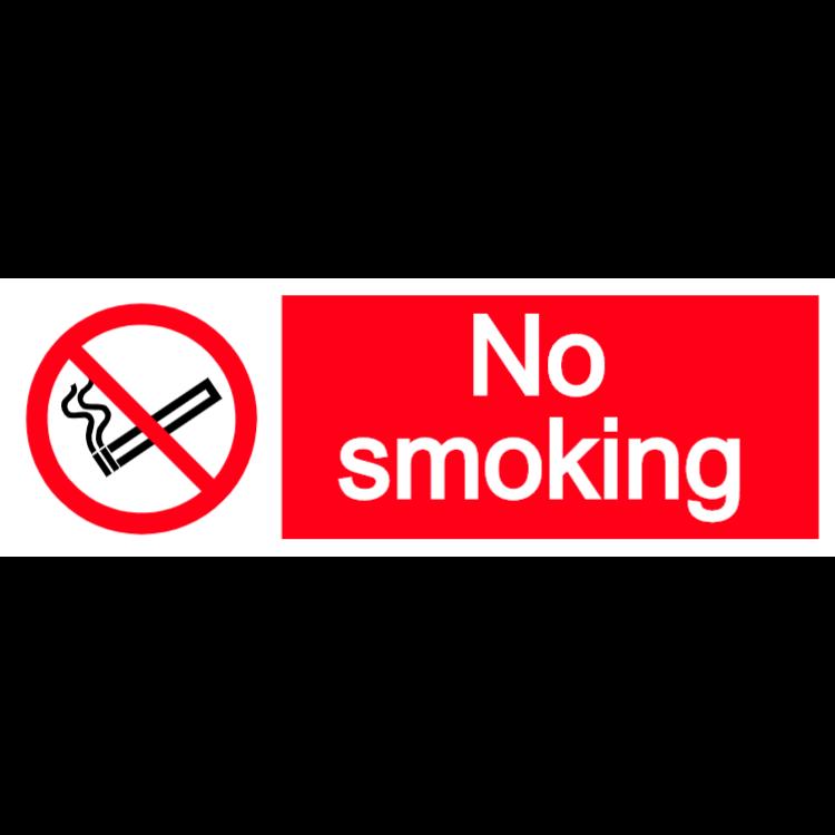 No smoking - landscape sticker