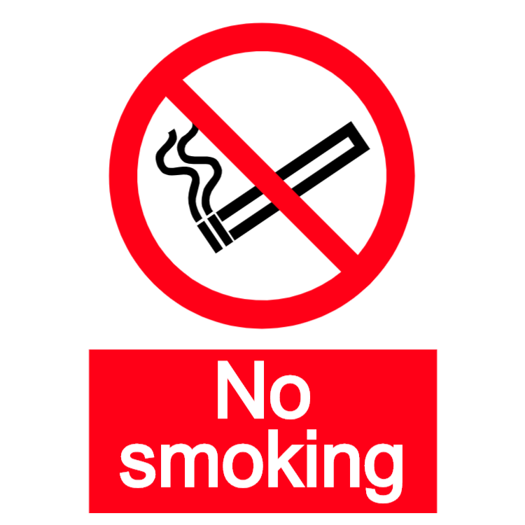 No smoking - portrait sticker