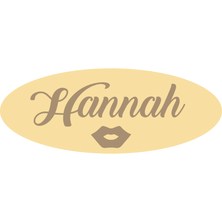 Wooden name tag 2