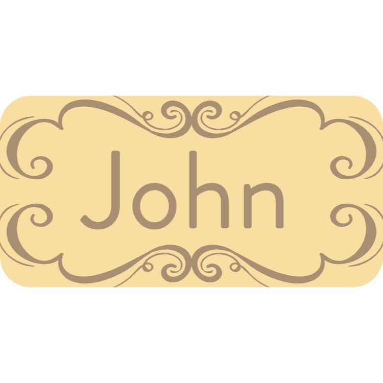 Wooden name tag 3
