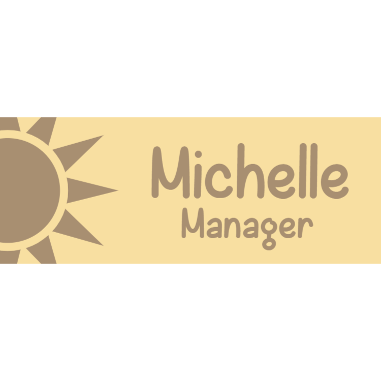 Wooden name tag 4