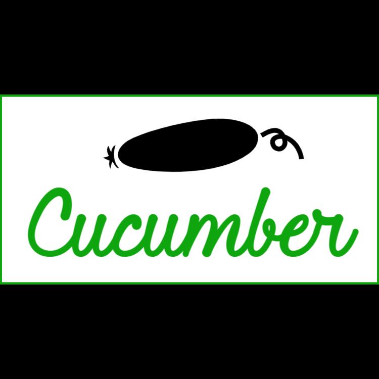 Cucumber sign