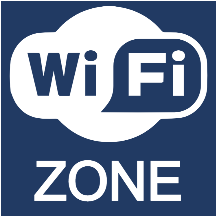 Wifi zone sticker