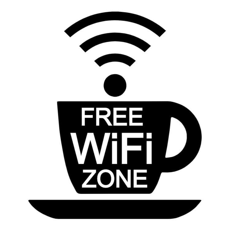 Free wifi zone - cup sticker