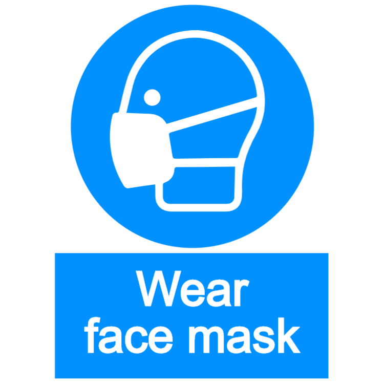 Wear face mask - portrait sign