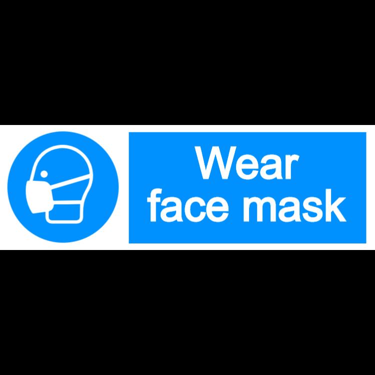 Wear face mask - landscape sign