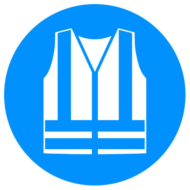 Hi-Vis vest sticker