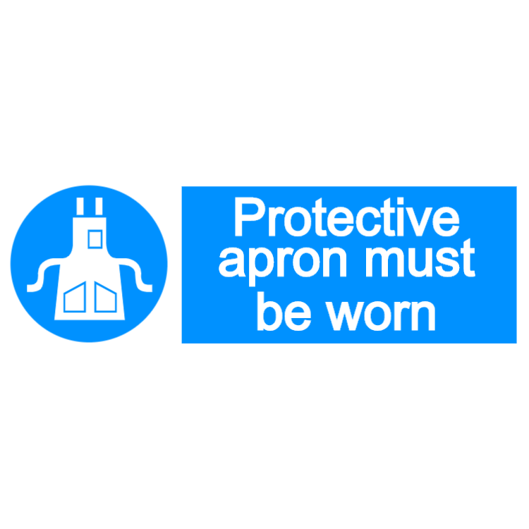 Protective apron must be worn - landscape sign