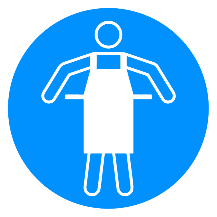 Protective apron 1 sign