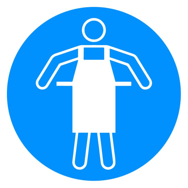 Protective apron 1 sticker