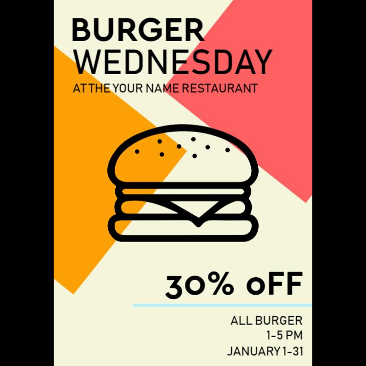 Burger advertising sign