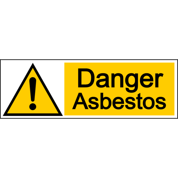 Danger asbestos - landscape sign