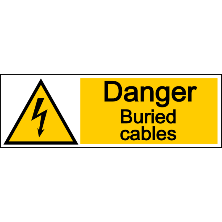 Danger buried cables - landscape sign