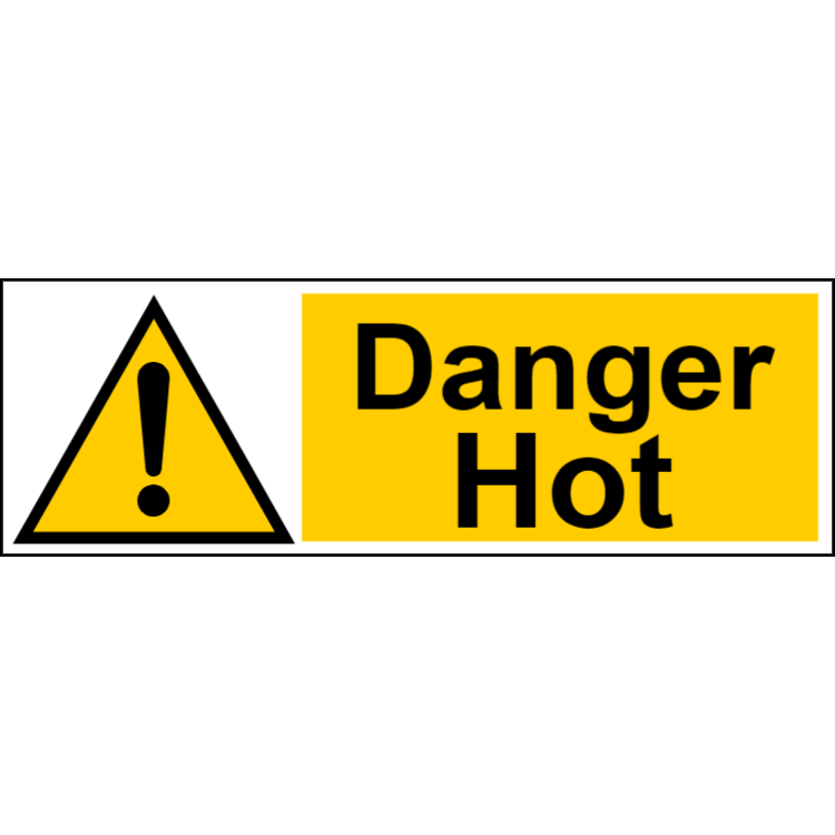 Danger hot - landscape sign