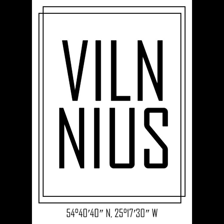 White Vilnius sign