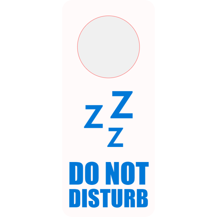 Do not disturb - white door hanger