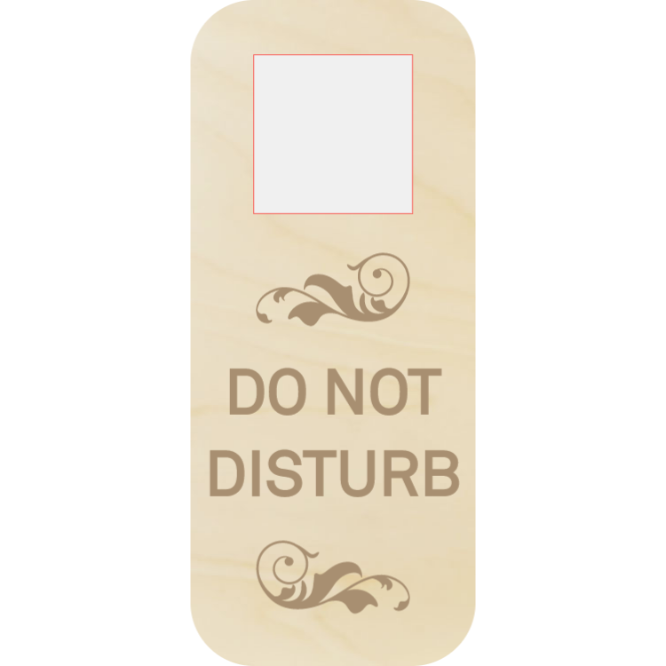 Do not disturb - wooden door hanger