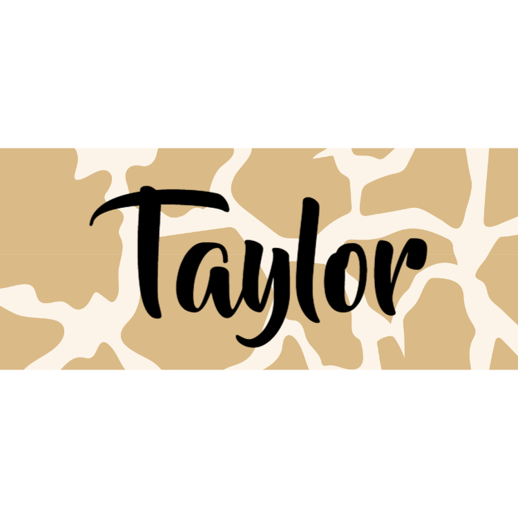 Name tag - animal print