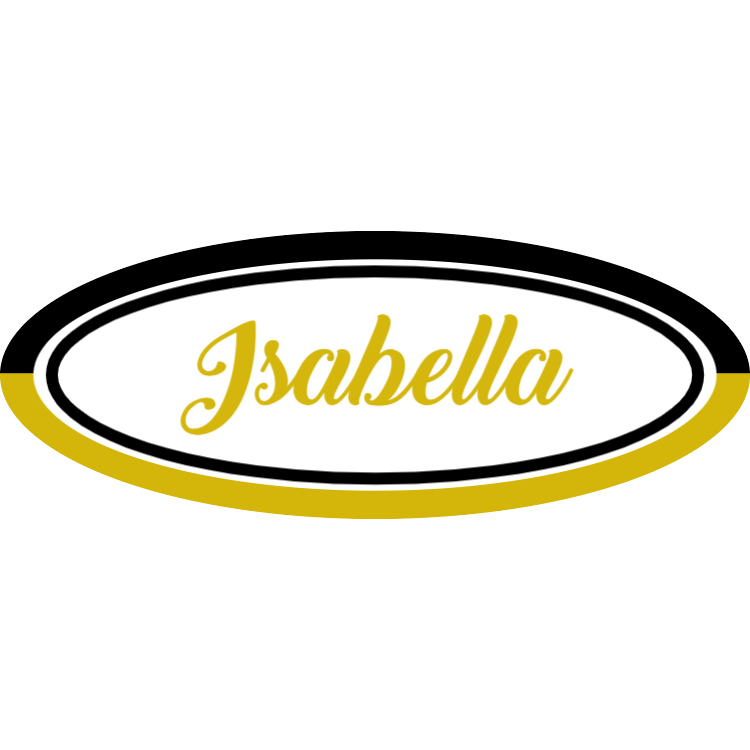 Black and gold name tag