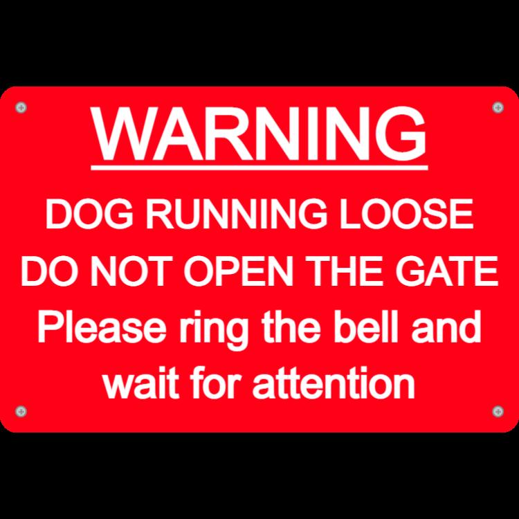 Warning ring bell sign