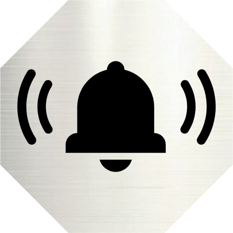 Ring bell - aluminium sign