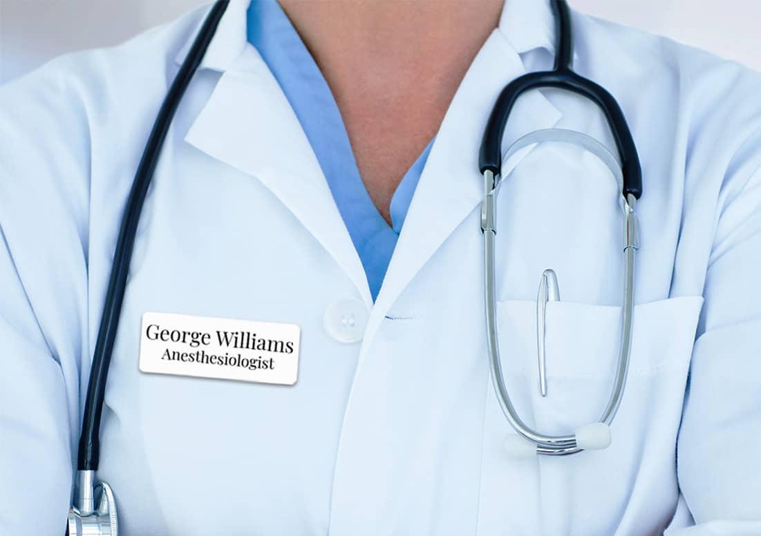Nurse name tags