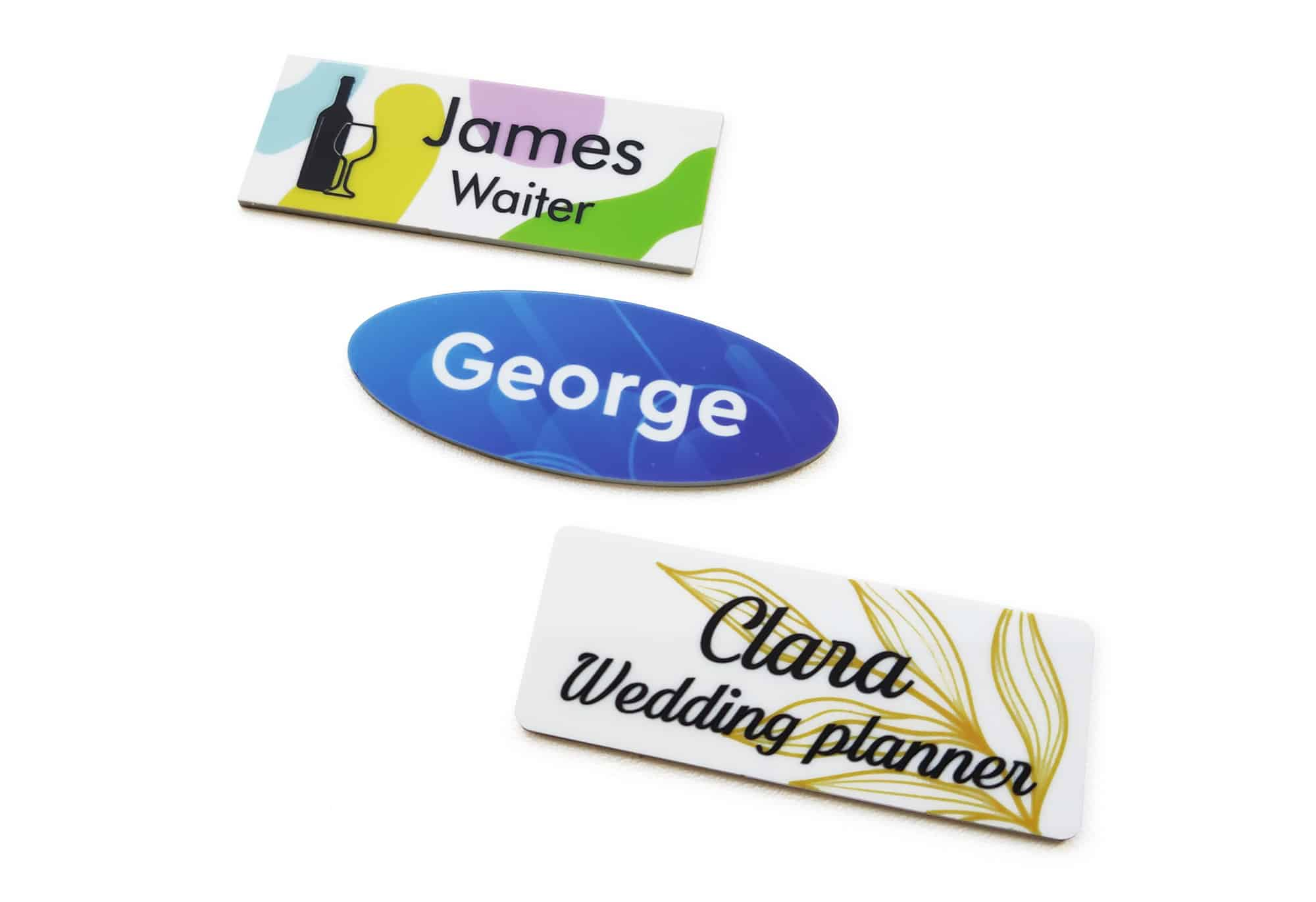 Printed Name Tags