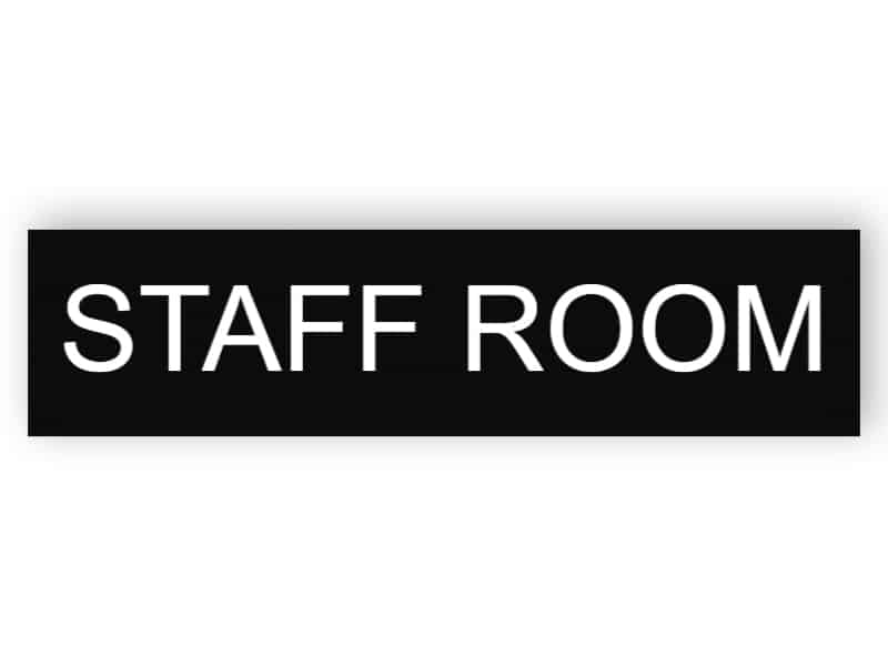 Staff room door sign