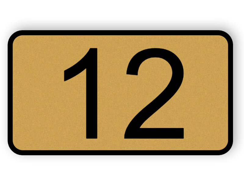 Door number plaque - bronze color plastic