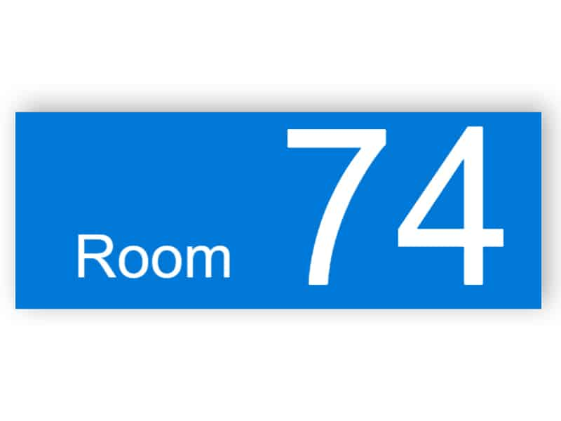 Plastic room number - rectangular