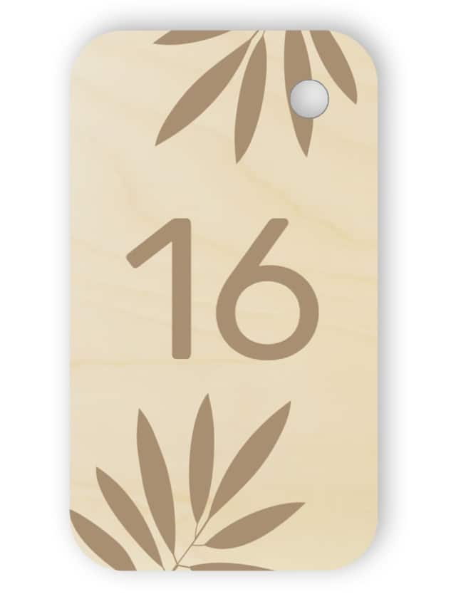 Wooden room key tag