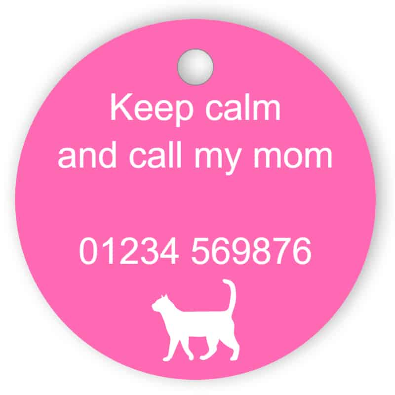 Pet sign - call my mum - pink
