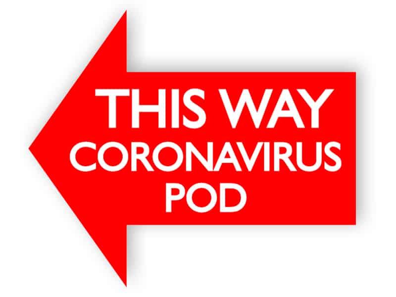 This way coronavirus pod