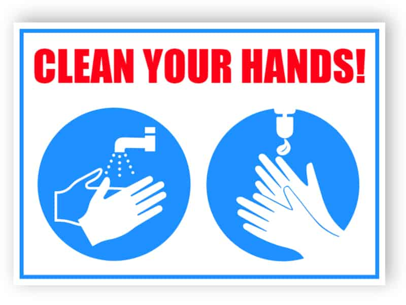 Clear your hands sign