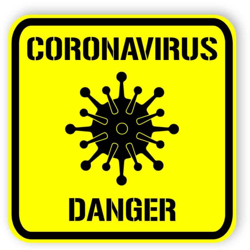 Coronavirus - danger - sticker