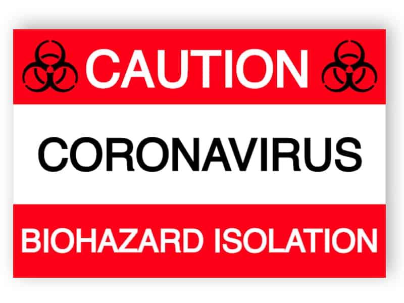 Caution - Biohazard isolation