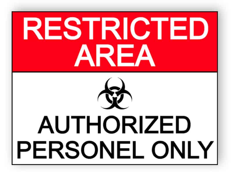 Restricted area - authorized personel only