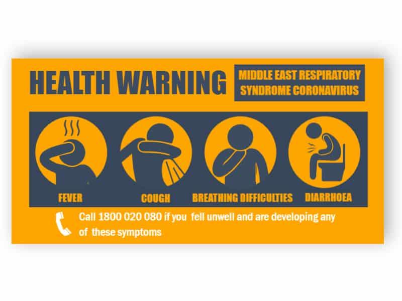 Health warning sign