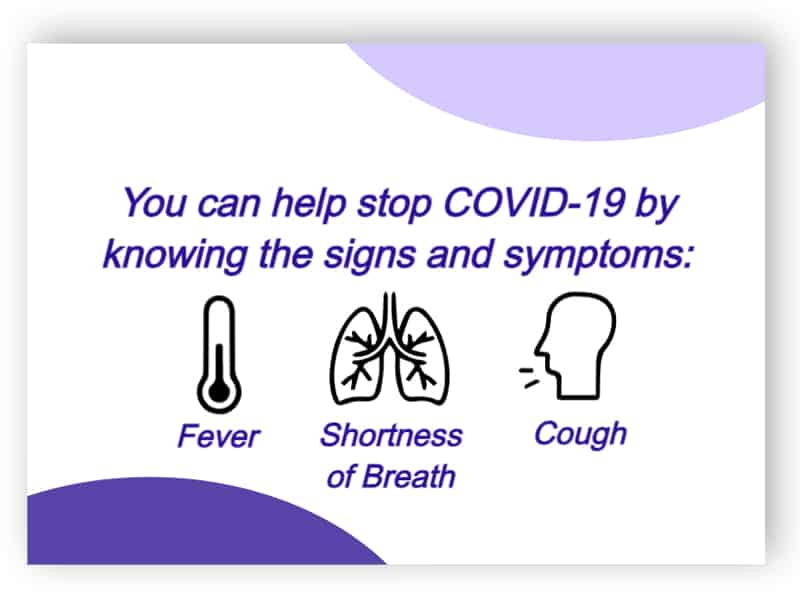 You can help stop COVID-19 - sticker