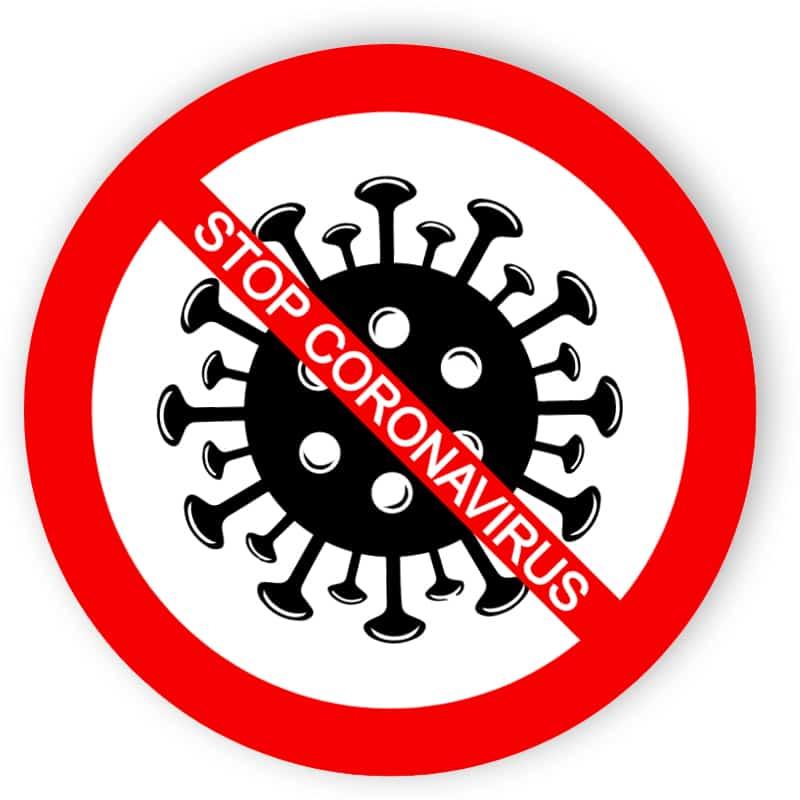 Stop coronavirus - sticker
