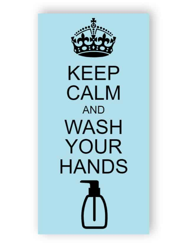 Keep calm and wash your hands - sticker