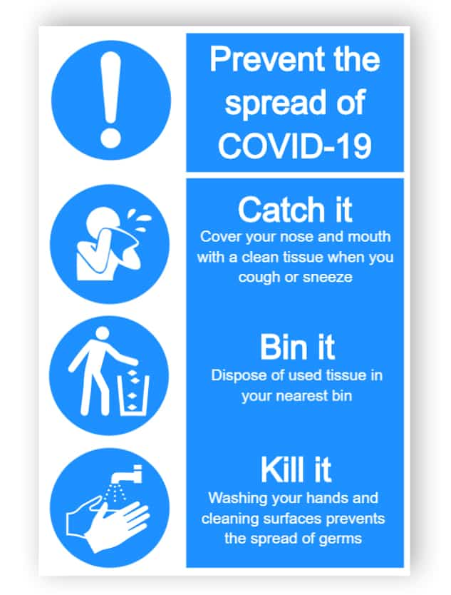 Prevent the spread of covid-19 - sticker