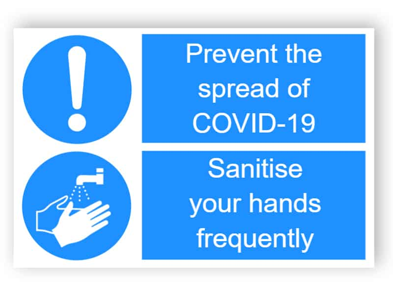 Prevent to spread of covid-19 - sanitise your hands - sticker