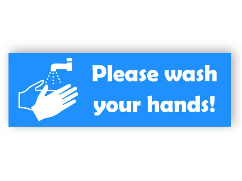 Please wash your hands! - sticker