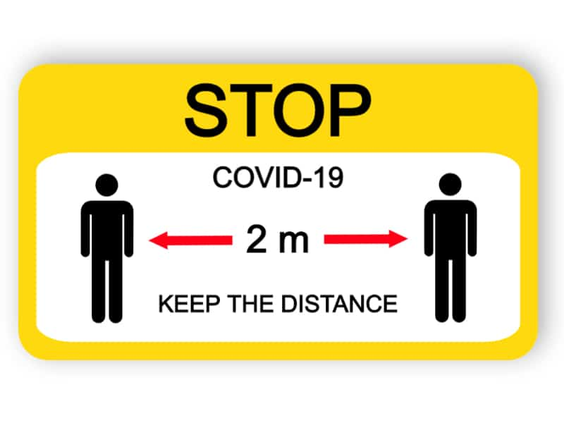 Keep the distance sign