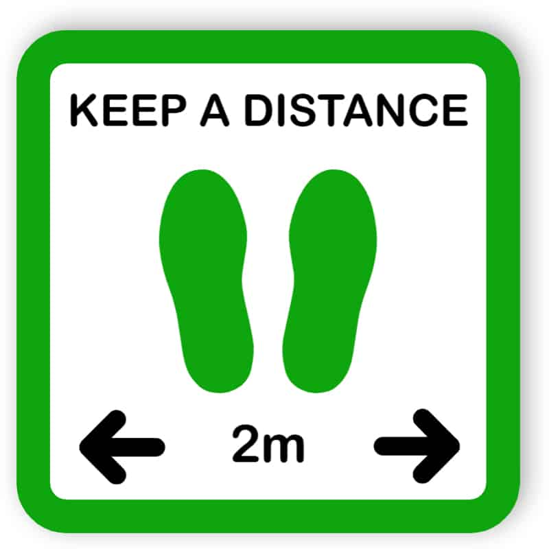 Keep a distance - sticker